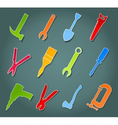 Icons of tools vector