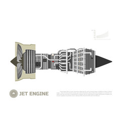 jet engine of aircraft part of the airplane vector image