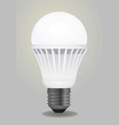 led bulb vector image