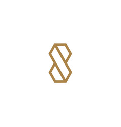 letter s logo line design abstract vector image vector image