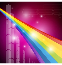 Rainbow Color Abstract Transparent Background vector image vector image
