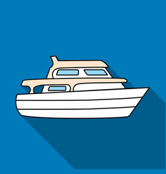 recreational marine boatboat for a family holiday vector image