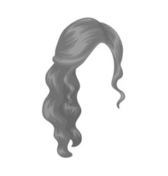 Red wavyback hairstyle single icon in monochrome vector