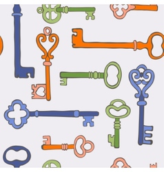 Retro keys stylish background vector image vector image