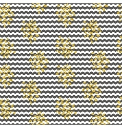 seamles black white stripes gold shine vector image vector image