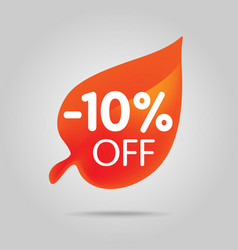 special offer sale orange tag isolated vector image vector image