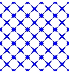 Star blue geometric seamless pattern vector image