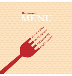 Stylish restaurant menu card vector image vector image