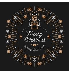 Trendy Christmas Card Happy New Year Minimal vector image