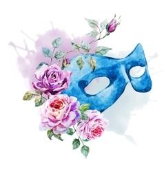 Watercolor venecian mask vector image vector image