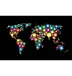 Gem world map vector image