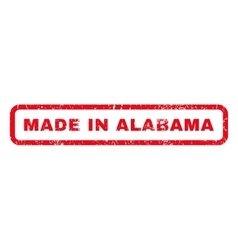 Made in alabama rubber stamp vector