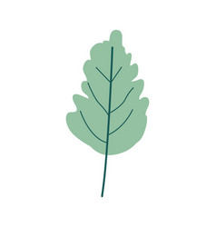 Green light color of wavy leaf plant vector