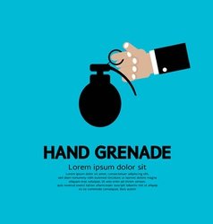 Hand holding a grenade vector