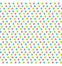 Seamless pattern with multicolored dots isolated vector
