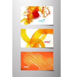 Splash gift cards vector