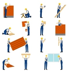 Builders People Set vector image