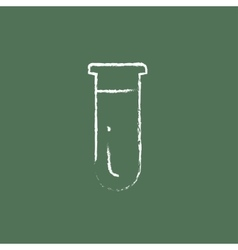 Test tube icon drawn in chalk vector