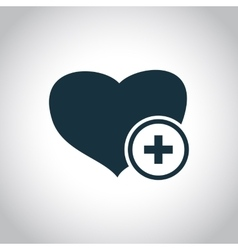 Heart and cross medical symbol vector