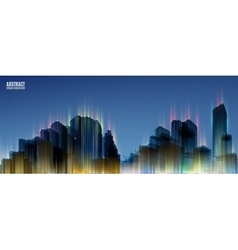 City skylines blue night background panorama vector