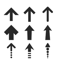 Up arrows flat icon set vector