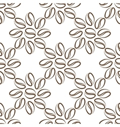 Coffee beans flower vector