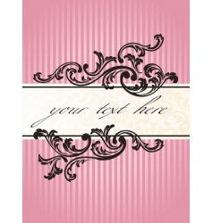 Romantic french banner vector