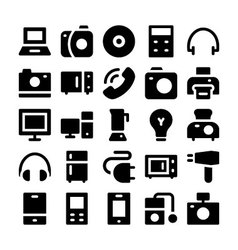 Electronics icons 1 vector