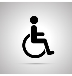 Disabled handicap simple black icon vector