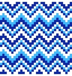 Ornament blue and white squares vector