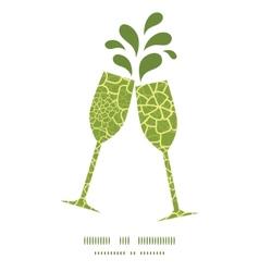 Abstract green natural texture toasting vector