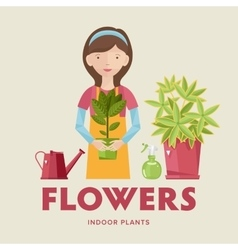 Beautiful house plants vector image