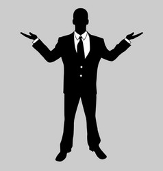Business man black and white 5 vector