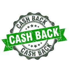 Cash back stamp sign seal vector