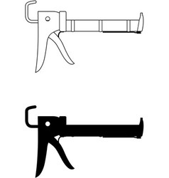 caulking gun vector image