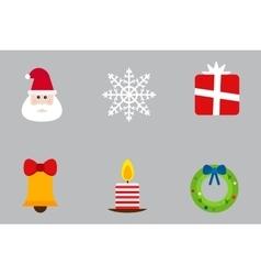 Christmas holiday icons set vector