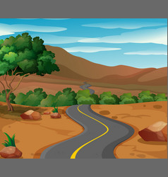 curve road to the countryside vector image vector image