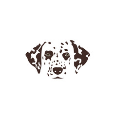 Dalmatian head brown spotty dog vector