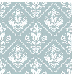 damask seamless background vector image