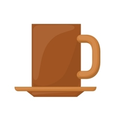 Dish porcelain with big mug vector