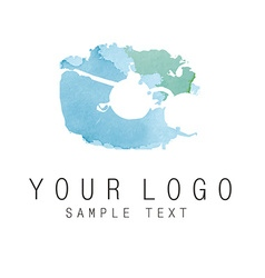 logo aquarelle vector image