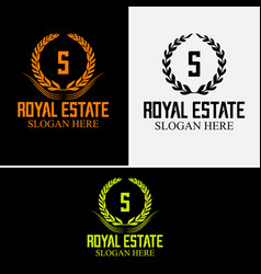 luxurious royal logo vector image