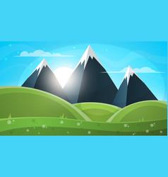 mountain landscape paper vector image
