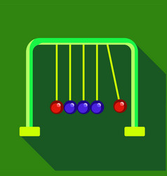 Newtons cradle icon flat style vector