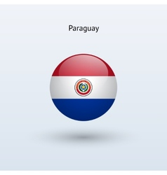 Paraguay round flag vector image