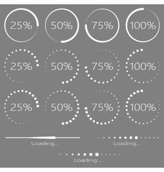 Preloaders and progress bar vector image vector image
