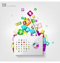 Radio icon Application buttonSocial mediaCloud vector image vector image