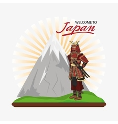 Samurai man cartoon design vector