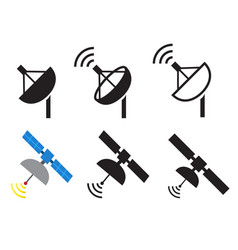 Set of satellite icons vector