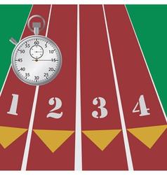 sport stopwatch vector image vector image